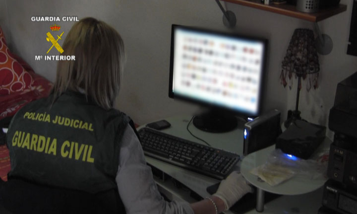 Resultado de imagen de pornografia infantil guardia civil