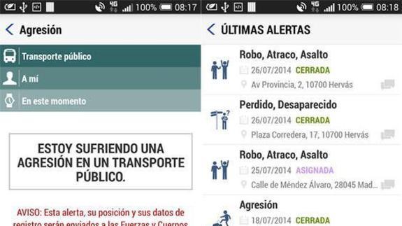 La aplicación móvil Alertcops incorpora un nuevo botón específico para alertar sobre una situación de violencia de género