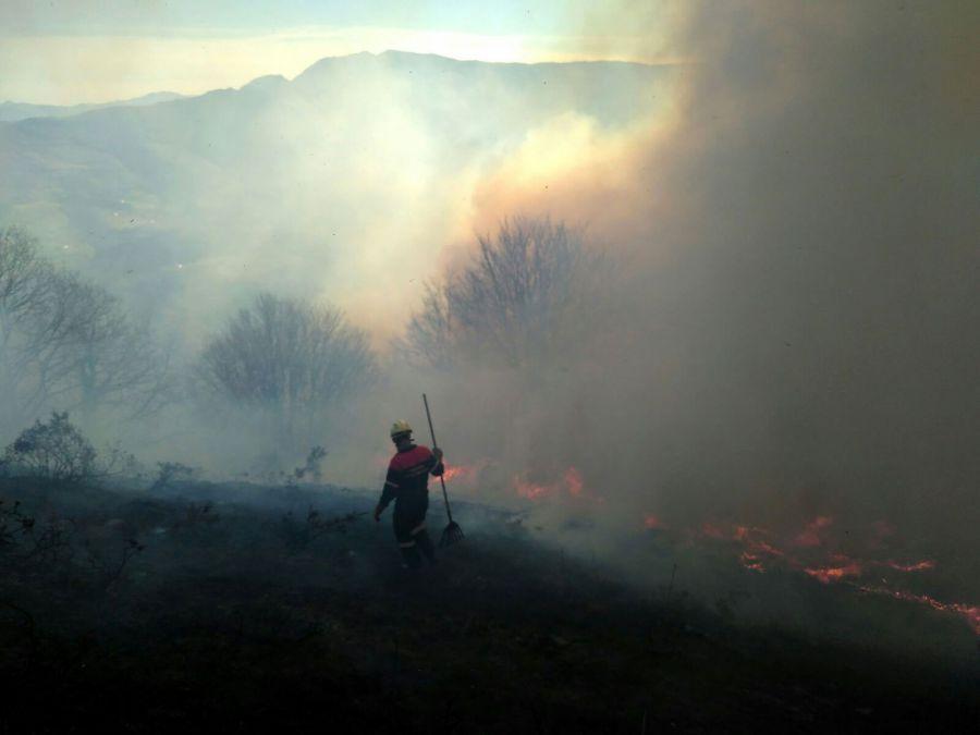 Más de 700 efectivos para la extinción de incendios estivales en Navarra