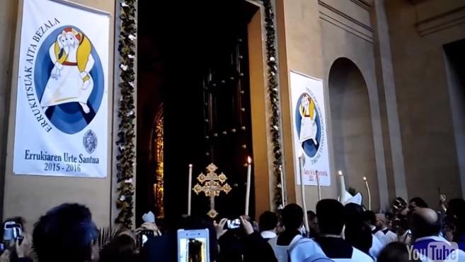 """La Catedral de Pamplona abre la """"Puerta Santa"""" en el Año Jubilar de la Misericordia"""