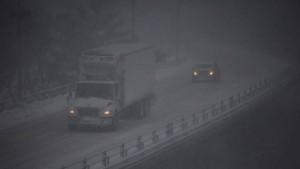 Carreteras colapsadas por la tormenta de nieve Jonas
