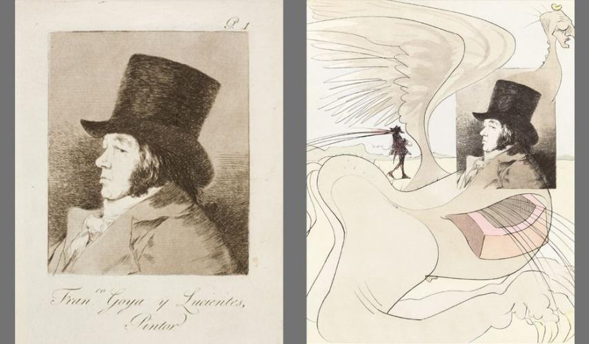 Los Caprichos de Goya bajo la mirada surrealista de Dalí en Zaragoza