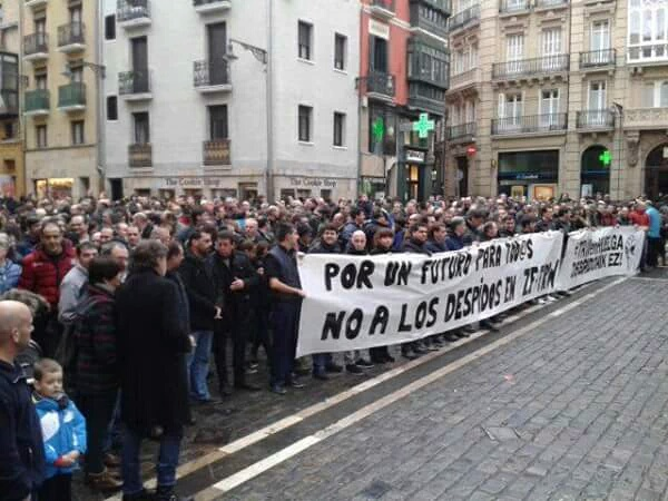 """El comité de empresa de TRW se reúne con el alcalde de Pamplona para pedirle """"que esté del lado de la plantilla"""""""