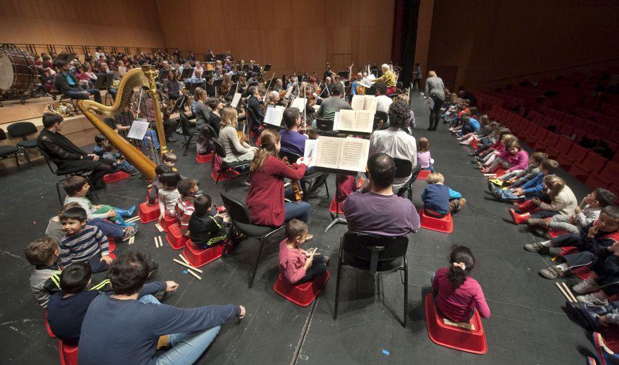 450 niños y niñas de 4 años tocan junto con la Orquesta Sinfónica de Navarra en una nueva iniciativa educativa