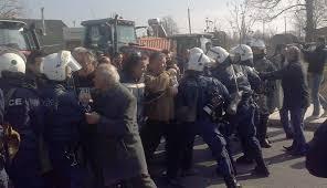 Protestas masivas contra la reforma de pensiones en Grecia