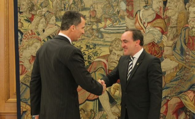 El Rey inicia el segundo día de consultas parlamentarias con Javier Esparza (UPN)
