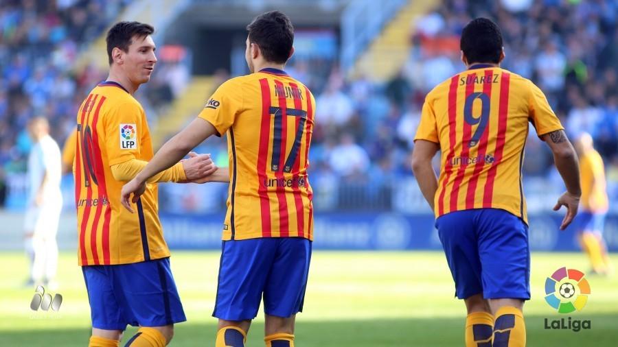 1-2 Messi desenreda el partido y hace líder al  Barcelona