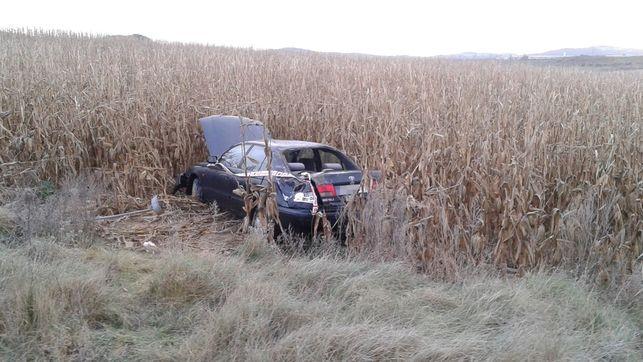 Un conductor de 59 años, herido con pronóstico reservado en un accidente en Artajona