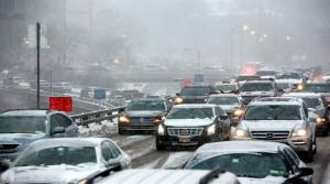 La nieve ha intensificado aún más el tránsito en Nueva York
