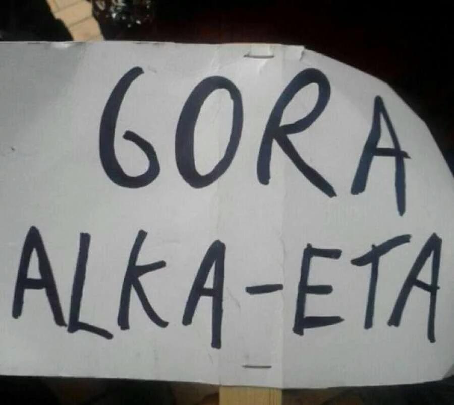 Vivas a ETA, apuñalamientos y jueces ahorcados en una obra infantil en Madrid