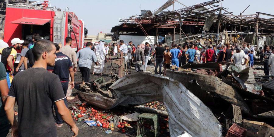 Al menos 50 muertos y 70 heridos en un atentado suicida al sur de Bagdad