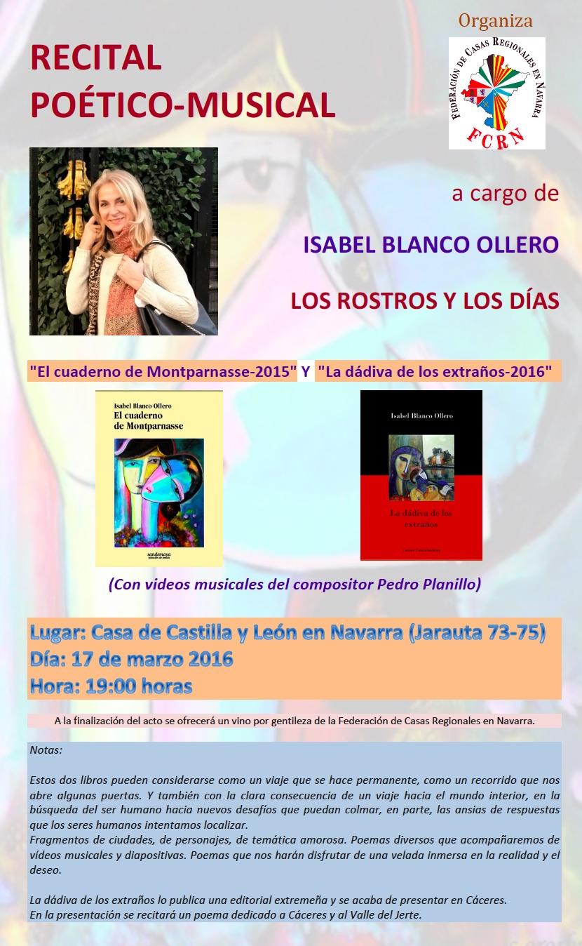 La Federación de Casas Regionales en Navarra organiza un Recital poético-musical