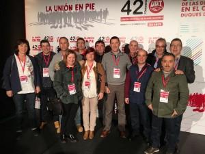 12 delegados de UGT NAvarra en el 42º Congreso Federal
