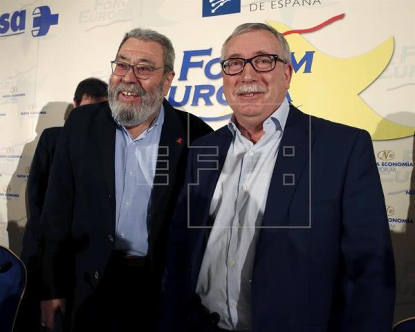 Méndez (UGT) pide una gran coalición por el cambio que incluya a Ciudadanos
