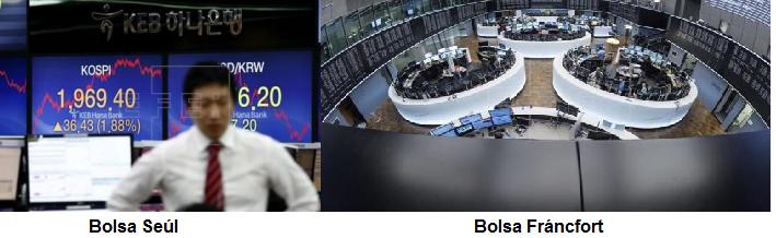 Seúl avanza con fuerza y la Bolsa de Fráncfort sube un 0,25% en la apertura