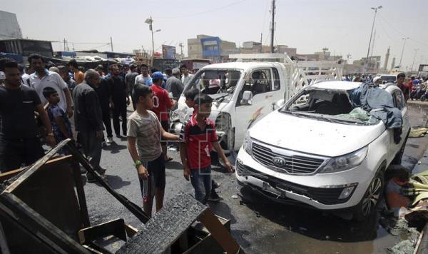 Mueren once personas en un doble atentado en un mercado de Bagdad