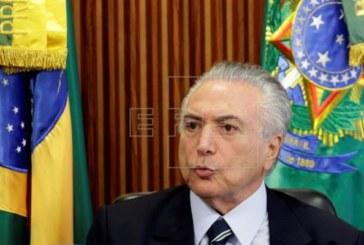 Temer garantiza que terminará su mandato y entregará un Brasil «en orden»