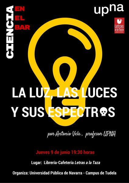 """La UPNA concluye """"Ciencia en el bar"""" en la librería Letras a la taza de Tudela"""