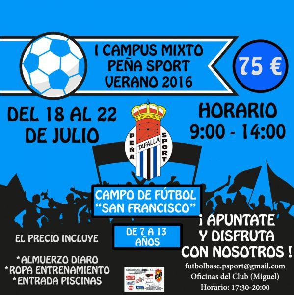 La Peña Sport FC de Tafalla organiza el I Campus Mixto de Verano 2016