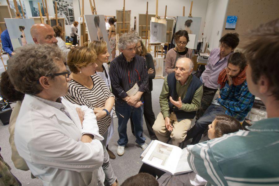 X Taller de Pintura con Antonio López en Museo Universidad de Navarra y visita al Mercado