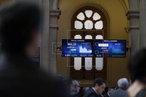 La Bolsa española pierde los 8.800 puntos tras caer el 0,36 por ciento