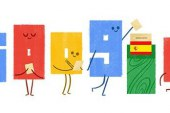 Google dedica a las elecciones del 26J el diseño del logotipo de su buscador