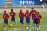 España se concentra bajo la lluvia con Jordi Alba como centro de atención