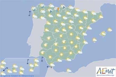 Aumento de la nubosidad en el extremo norte, en Navarra posibilidad de tormentas por la tarde