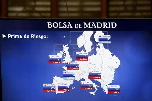 La prima de riesgo española continua en 144 puntos en la apertura