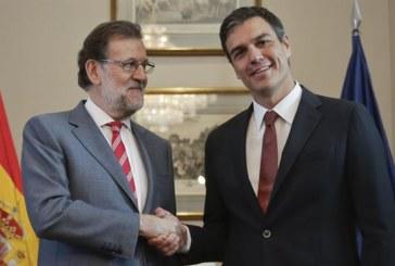 Sánchez pide a Rajoy «una negociación seria» pero sin contar con el PSOE