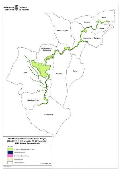 El tramo medio del río Aragón en Navarra, designado zona especial de conservación