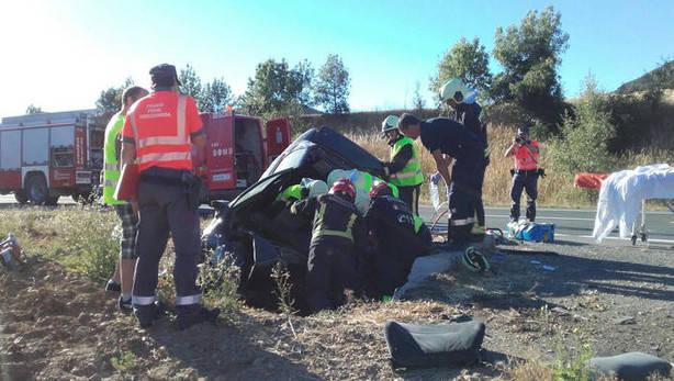 Agosto eleva a 20 el número de víctimas mortales en accidentes de tráfico en Navarra, dos más que en 2015