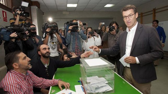Feijóo espera que las urnas den un «mensaje de futuro y prosperidad» a Galicia