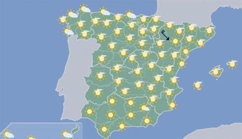 Hoy, temperaturas muy altas en el sur peninsular (42 grados) y Baleares