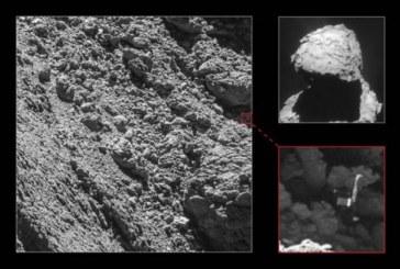 Una cámara de la sonda Rosetta localiza al módulo Philae en el cometa