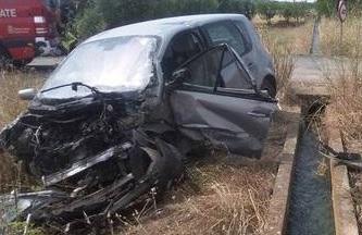 Fallece un hombre en Viana al chocar con una acequia