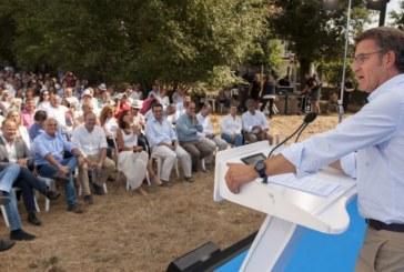 Feijóo apela a la «Galicia del sí» frente al «bloqueo» de España