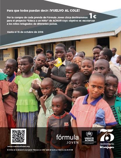 El Corte Inglés colabora con ACNUR en la escolarización a niños refugiados