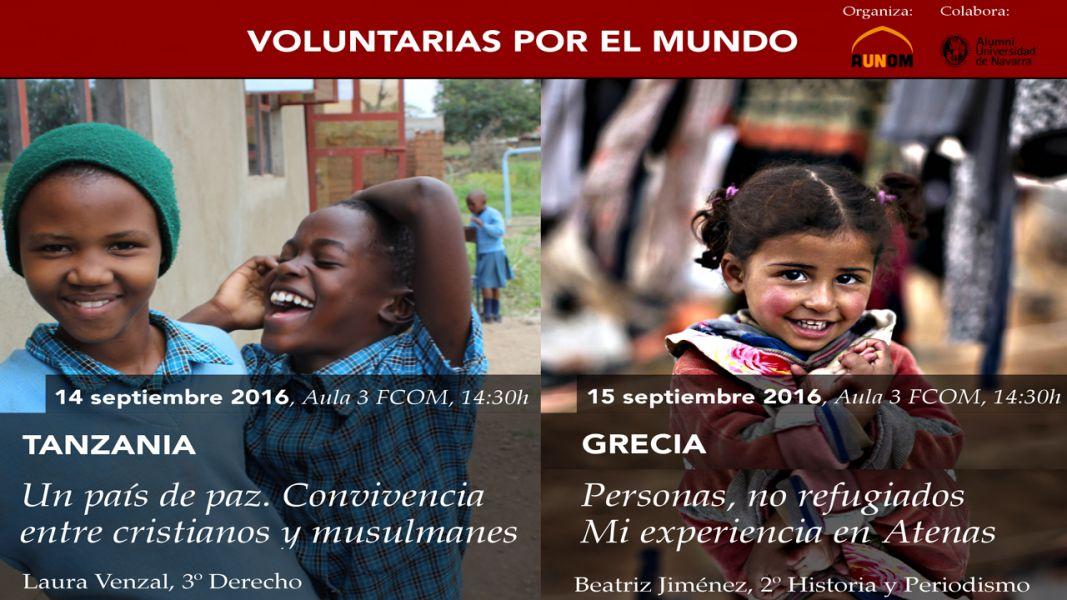 AGENDA: 14 y 15 de septiembre, en Fcom Universidad de Navarra, 'Voluntarias por el mundo'