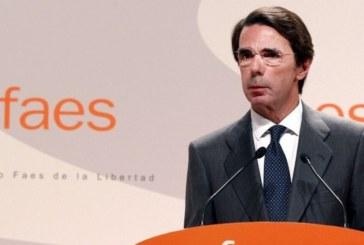 Aznar ve en Cs un «serio aspirante» a gobernar y ocupar el espacio del PP