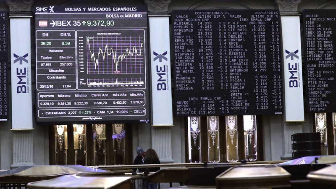 La Bolsa española mantiene ganancias del 0,51 % tras la apertura por la Fed