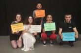 Anneya Gelis, Ana Villayandre, Uxuri Etxegia y Sandra Fuente, ganadoras de la II Olimpiada de Artes Escénicas, Música y Danza