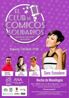 AGENDA: 1 de abril, en Baluarte, 'El club de los cómicos solidarios'