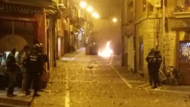 La Audiencia Nacional ratifica su competencia para investigar por terrorismo los incidentes de «kale borroka» en Pamplona