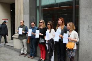 HazteOír muestran el escrito presentado en la Consejería de Educación de Madrid