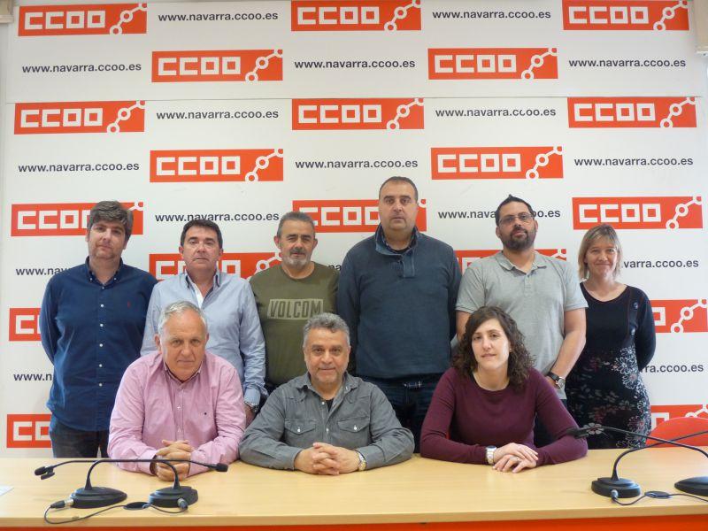 Nueva Comisión Ejecutiva de CCOO de Industria de Navarra