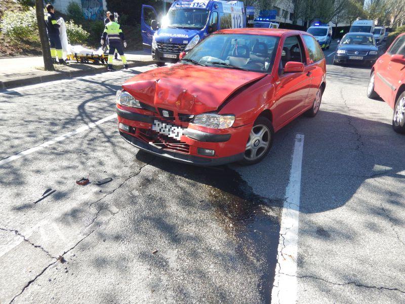 3 personas heridas en una colisión múltiple en el puente de la Agrupación Deportiva San Juan