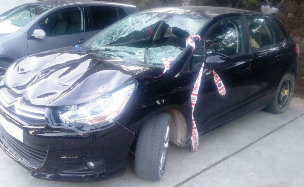 Policía Foral publica el estado del coche del atropello mortal en Tudela