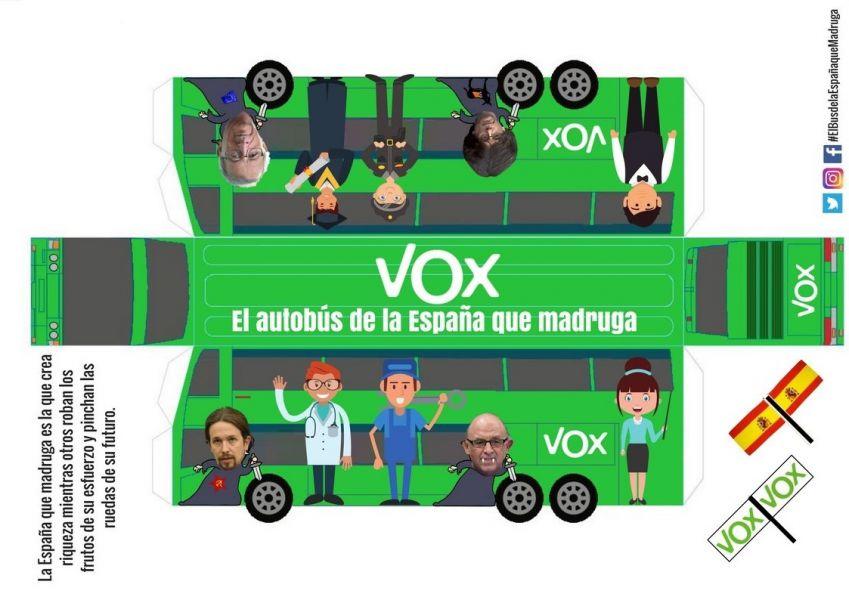 «La España que madruga» de VOX nuevo autobús propagandístico