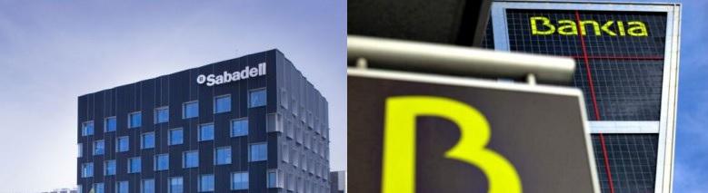 Bankia gana un 28,4 % más hasta marzo y el Banco Sabadell 14 % menos